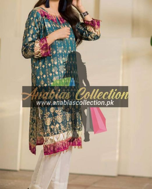 Digital-Chevron-Jacquard-Banarsi-Tunic-Kurties-Collection-D-05