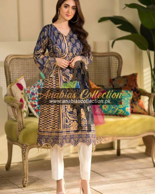 Digital-Chevron-Jacquard-Banarsi-Tunic-Kurties-Collection-D-08